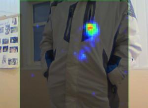 Terahertz image of hidden hand-gun