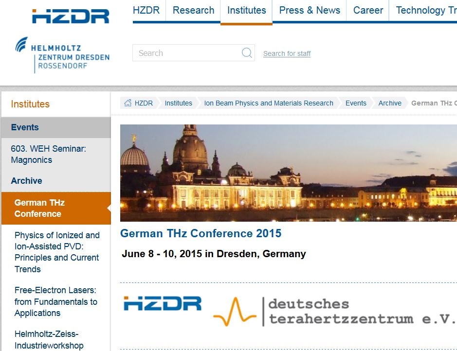 German THz Conference 2016