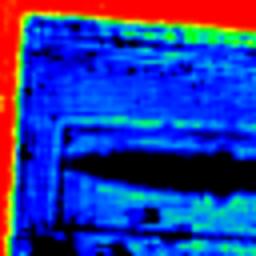 Terahertz image of a hidden knife